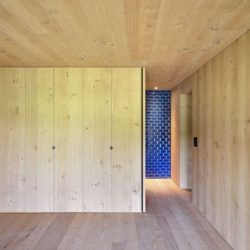 Pièce en bois entrée salle de bains - House-Lendenmann par L3P Architekten - Regensberg, Suisse