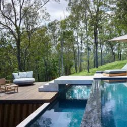 Piscine é bains de soleil - Home-Overlooks par Shaun Lockyer Architects - Queensland, Australie