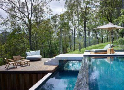 Piscine é bains de soleil - Home-Overlooks par Shaun Lockyer Architects - Queensland, Australie