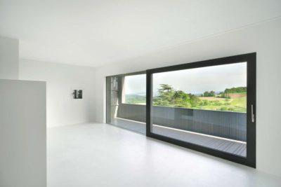Porte vitrée coulissante - House-Lendenmann par L3P Architekten - Regensberg, Suisse