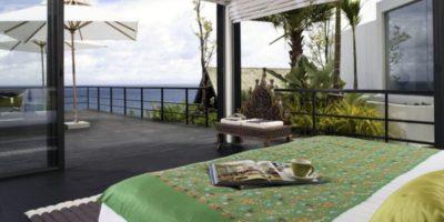 Première Chambre & accès terrasse balcon - Villa-Yin - iles Adaman (1)