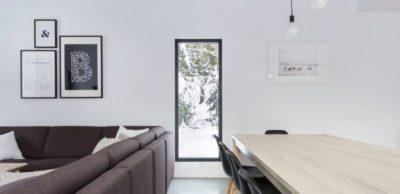 Salle séjour & salon - Villa-Boreale par Cargo Architecture - Charlevoix, Quebec