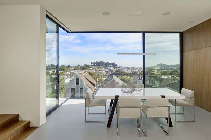 Salle séjour & vue panoramique - Laidley-Street-Residence par Michael Hennessey - San Francisco, USA
