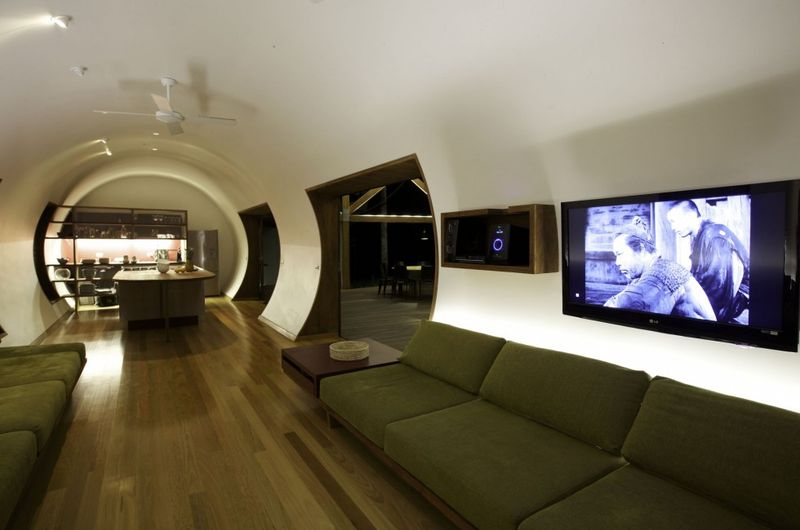 Salon & écran TV - Drew-House par Anthill Constructions - Queensland, Australie