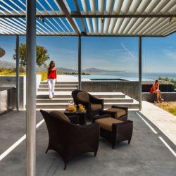 Salon ouverte & cuisine-bar  - California-home  par nma-architects - Californie, USA