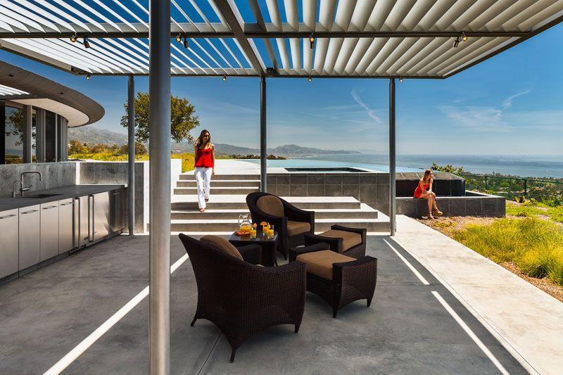 Salon ouverte cuisine bar california home par nma for Cuisine ouverte sans bar