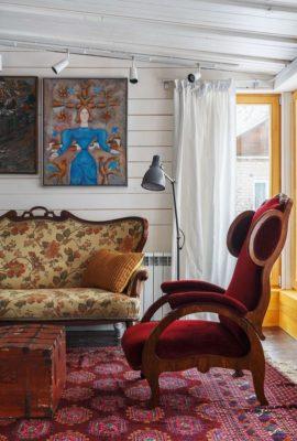 Salon & porte vitrée - House-Tarusa par Project905 - Tarusa, Russie