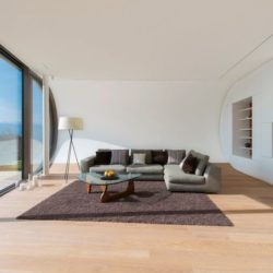 Salon principal & grande baie vitrée - Flexhouse par Evolution Design - Meilen, Suisse