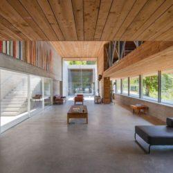 Salon-salle séjour & grande baie vitrée - Geres-House par Carvalho Araujo - Vieira do Minho, Portugal