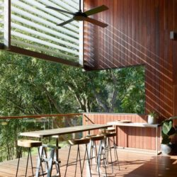 Salon terrasse balcon - Home-Overlooks par Shaun Lockyer Architects - Queensland, Australie