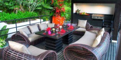 Salon terrasse balcon - Villa-Yin - iles Adaman