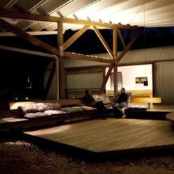 Salon terrasse design - Drew-House par Anthill Constructions - Queensland, Australie
