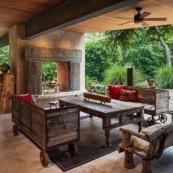 Salon traditionnel bois - Cunius Residence par Paul Macht - Etats-Unis