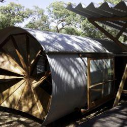 Structure ronde - Drew-House par Anthill Constructions - Queensland, Australie