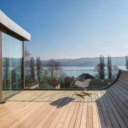 Terrasse bois balcon - Flexhouse par Evolution Design - Meilen, Suisse