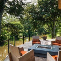 Terrasse salon design - Cunius Residence par Paul Macht - Etats-Unis