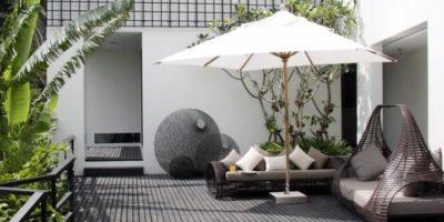 Terrasse salon design - Villa-Yin - iles Adaman