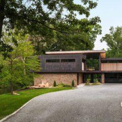 Voie privée accès - Cunius Residence par Paul Macht - Etats-Unis