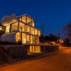 Vue d'ensemble nuit - Flexhouse par Evolution Design - Meilen, Suisse
