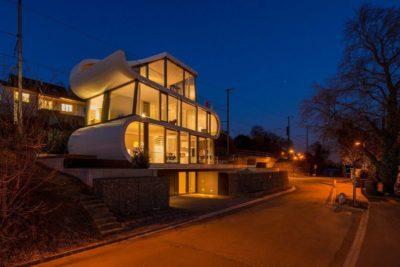 Vue d'ensemble nuit - Flexhouse par Evolution Design - Meilen, Suisse