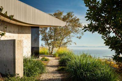 façade arrière & vue panoramique océan  - California-home  par nma-architects - Californie, USA