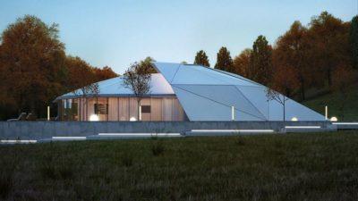 façade jardin & toiture en aluminium - Shell-House par Lenz Architects - Almaty, Kazakhstan