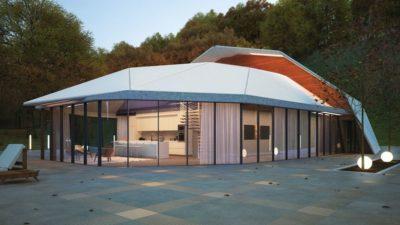 façade terrasse & grande baie vitrée - Shell-House par Lenz Architects - Almaty, Kazakhstan