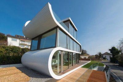 façade vitrée étage - Flexhouse par Evolution Design - Meilen, Suisse