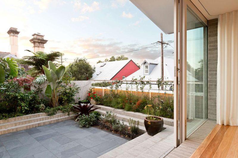 Façade jardin - Balmain-House Benn & Penna Architects - Sydney, Australie