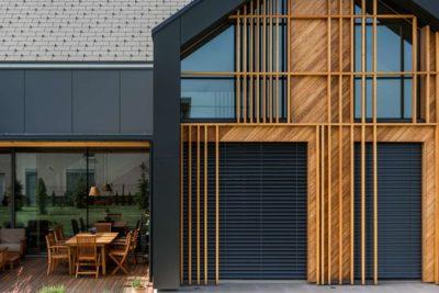 Façade vitrée & terrasse salon design - Family-Villa-XL - Sono-Arhitekti - Slovenie