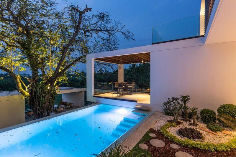 Piscine & façade terrasse - Casa-Guazuma par Alberto-Zavala - Tabasco, Mexique
