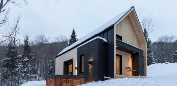 Chalet bois au look contemporain dans les montagnes for Architecture scandinave contemporaine