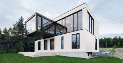 Chalet Blanche par ACDF Architecture - Malbais, Canada