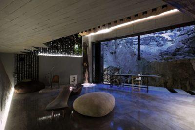 Mobilier en pierre & salle séjour - Dayangsanghoi par Tune Planning - Seoul, Coree du Sud