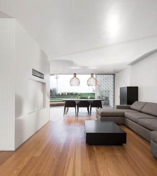 Salon & salle séjour - Restelo-House par Joao Tiago Aguiar - Lisbonne, Portugal