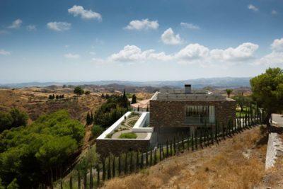 Vue panoramique toiture végétalisée - El Meandro par Marion Regitko - Malaga, Espagne
