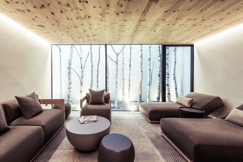 Chambre double lit & canapé - Villa-A par Perathoner - Selva de Val Gardena, Italie