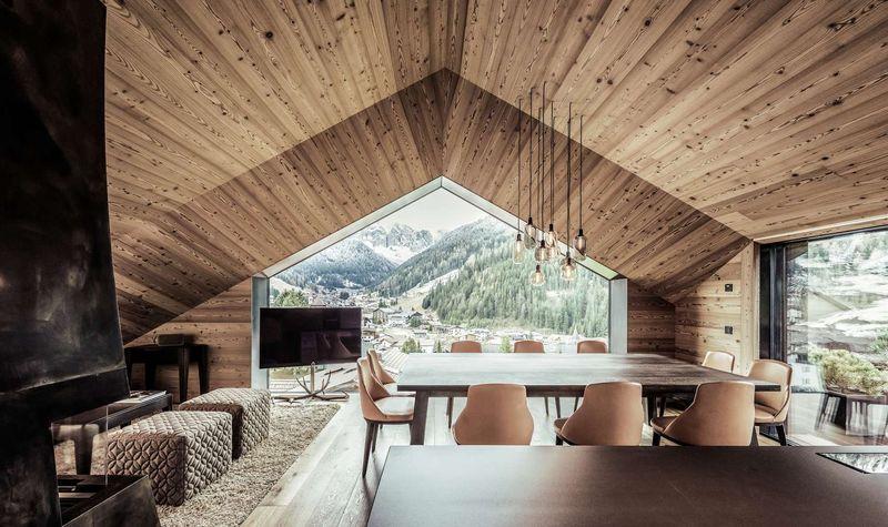 Salon & salle séjour - Villa-A par Perathoner - Selva de Val Gardena, Italie