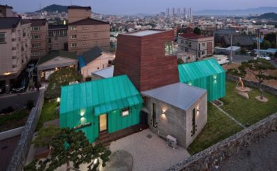 Tower-House-maison-x par ON Architecture - Gimhae, Coree du Sud
