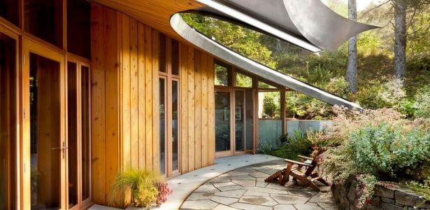 Belle maison bois contemporaine en u au design harmonieux aux usa construire tendance - Belle maison a construire ...