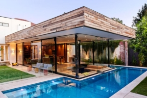 Extension bois construire tendance for Piscine brighton