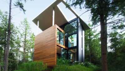 maison sculpteur Jarnuszkiewicz par Hamelin et Yiacouvakis - Bolton-Est - Canada