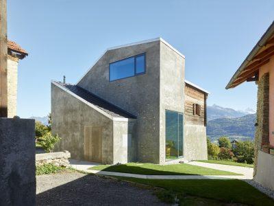 savioz-fabrizzi-maison-privée-Suisse-bois-pierre
